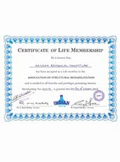 Certificate of Life Membership